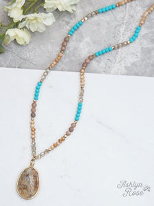 From this Moment Turquoise Bead Necklace