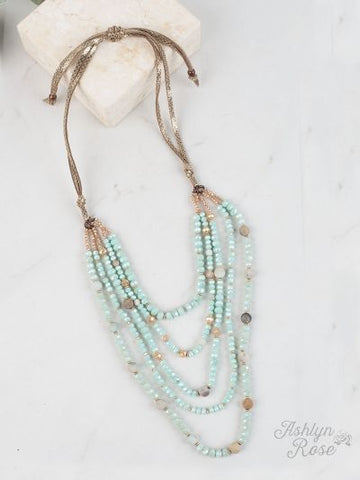 Dressed To Impress Necklace- MINT