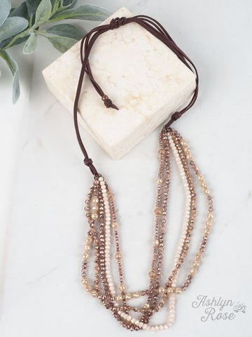 Dressed To Impress Necklace- ROSE GOLD