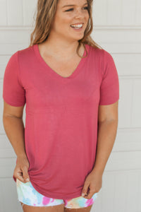 Lizzy Basic Top (Rose)
