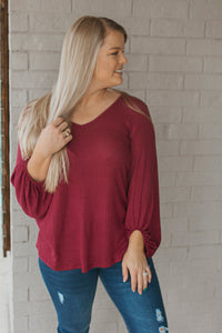 The Reynolds Top (Burgundy)
