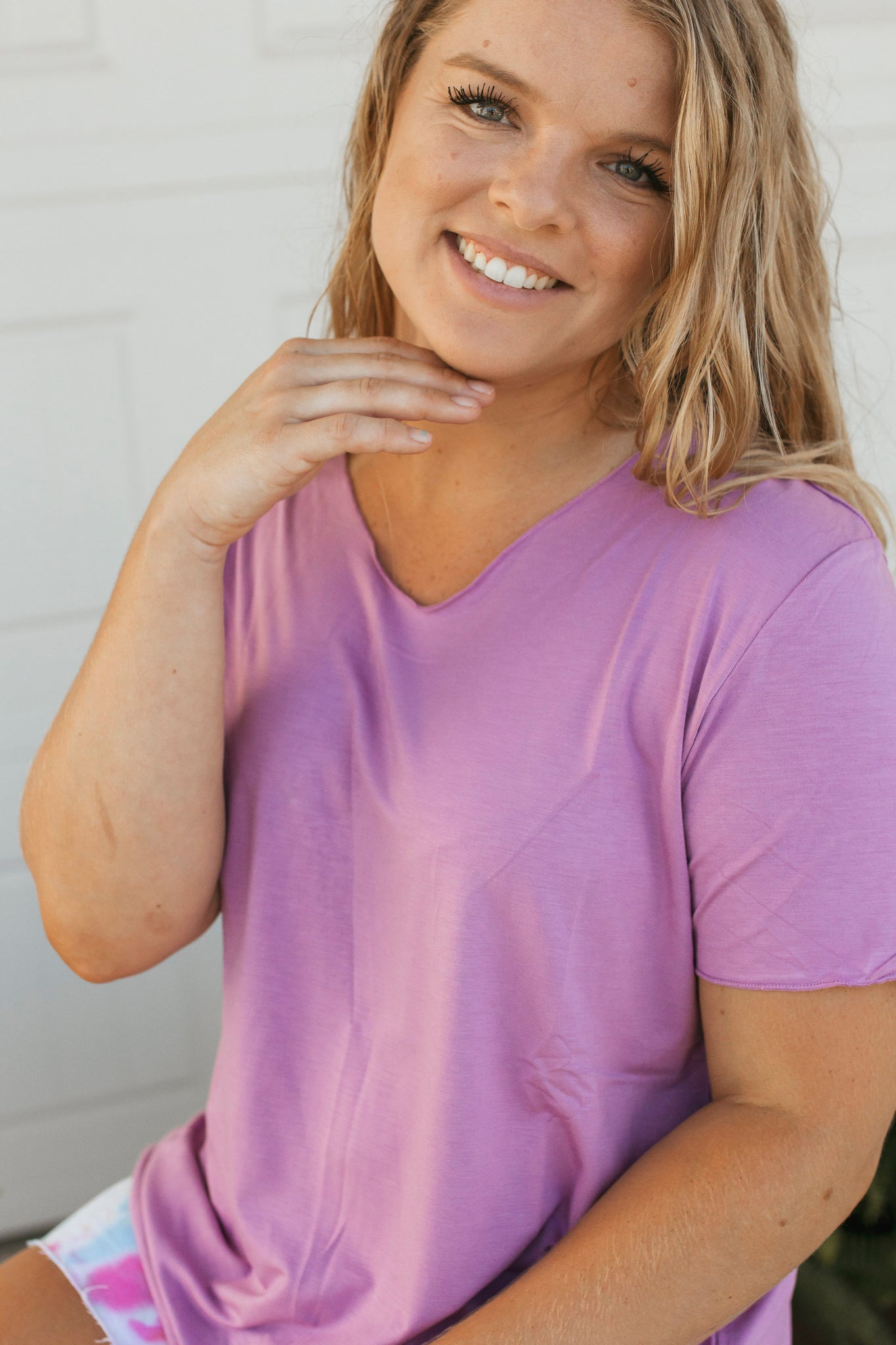 Butter Basic Top- Lavender