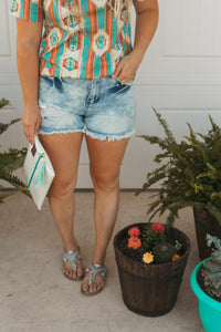 Shore Line Denim Shorts
