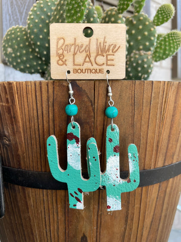 Just a Phase Cactus Earrings