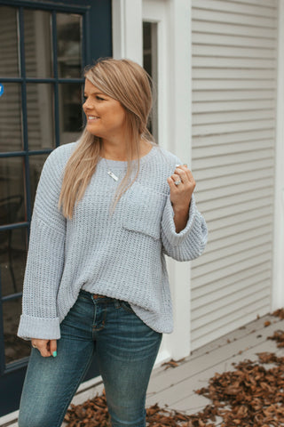 Owasso Dusty Blue Sweater
