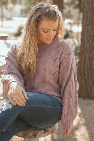 The Cora Lavender Sweater