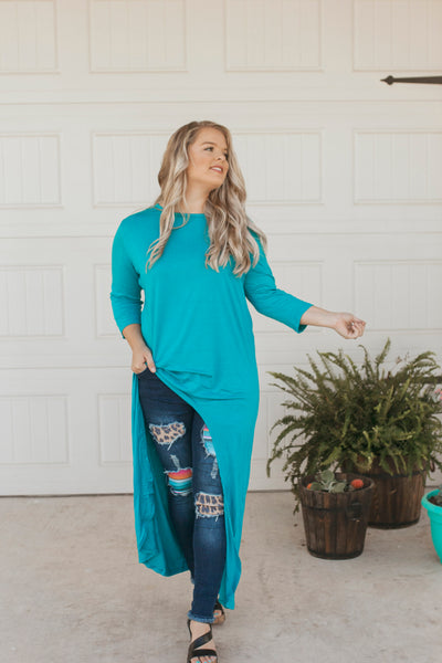 Jade Scoop High Low Tunic