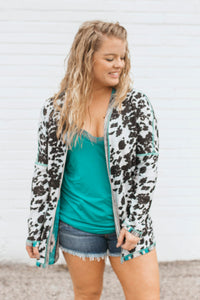 Colorado Cowgirl Cardigan Reversible (Aztec/Cowhide)