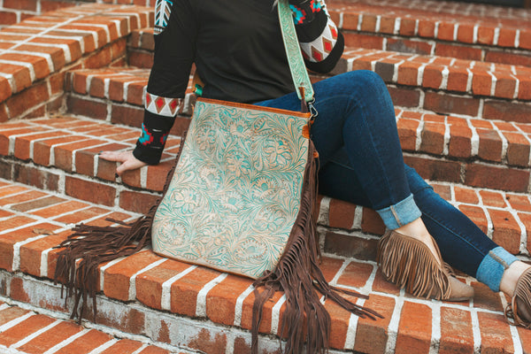 Talia Turquoise Tooled Purse