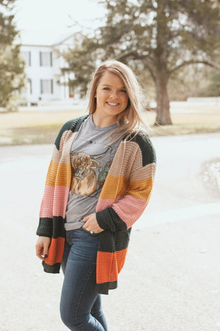 Forest Mix Block Cardigan