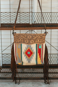 The Bison Saddle Blanket Purse
