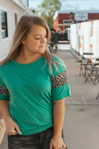 Mae'Lee Turquoise Top