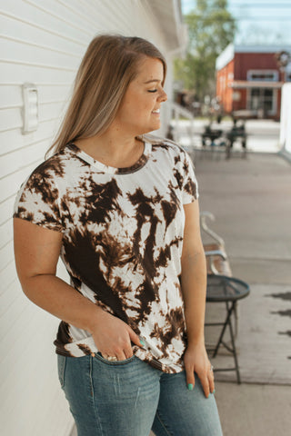 Keely Top (Brown Tie Dye)