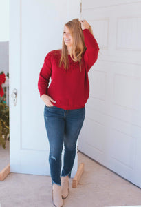 Vaquera Vibes Sweater (Wine)