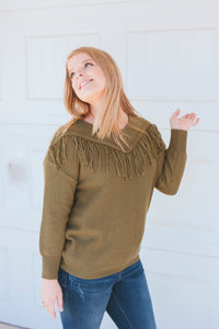 Vaquera Vibes Sweater (Olive)