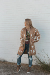The Reno Tribal Cardigan (Taupe)