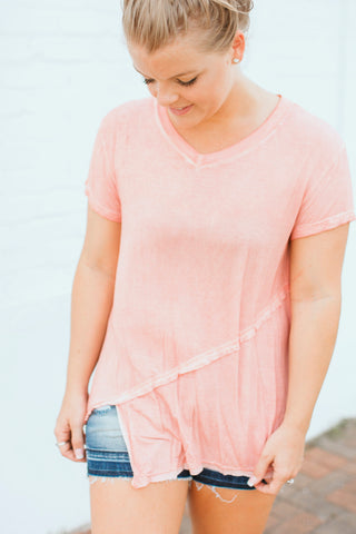 Basic Kait Top- Coral