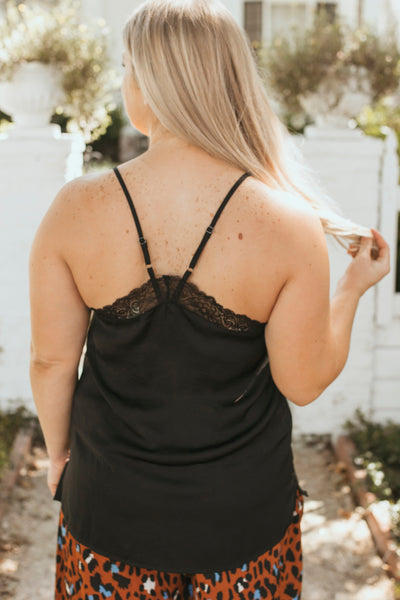 Cool Again Lace Cami (Black)