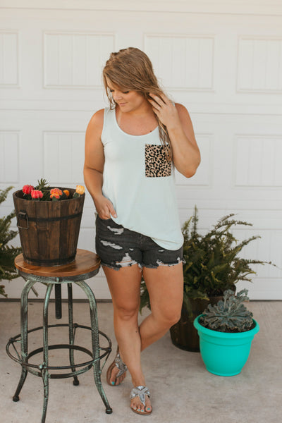Halliee Cheetah Pocket Tank (Lt. Moss)