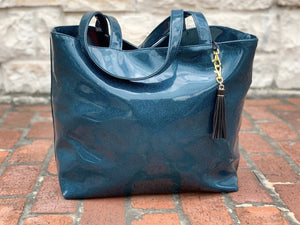 Peacock Glitter Tote (Daykeeper)