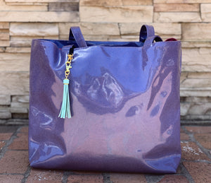 Periwinkle Glitter Tote (Daykeeper)
