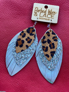 Heartless 3 Tier Earrings (Leopard)
