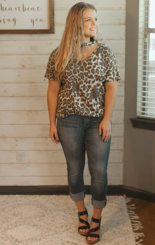On the Spot Leopard Top