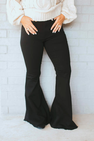 Black Betty Bell Bottom Jeans