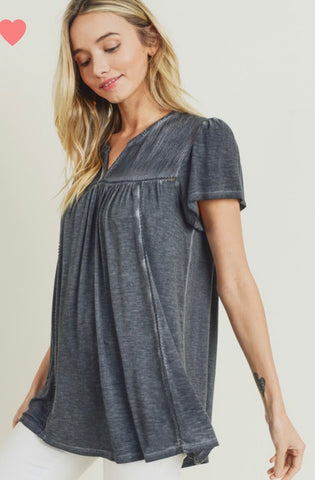 Mineral Wash Charcoal Top