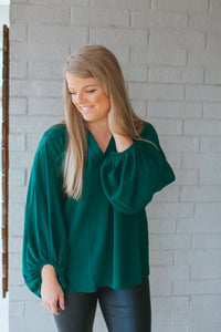 Bubble Sleeve Top (Green)