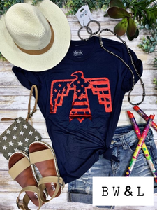 Red Foil Patriotic Bird Tee