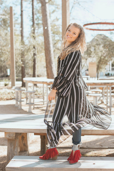 Haute of The Press Stripe Cardigan