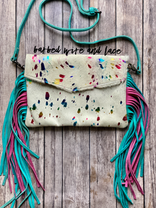 Confetti Cowgirl Purse (White)