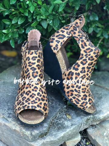 Roma Leopard Wedge