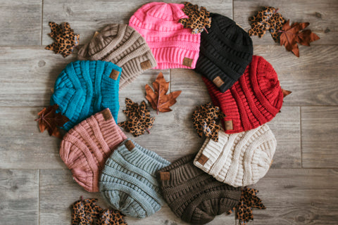 C.C. Solid Color Beanies