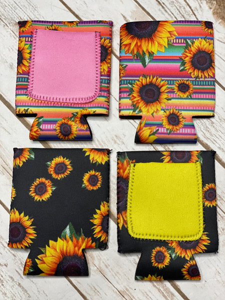 Neoprene Sunflower Can Coolies