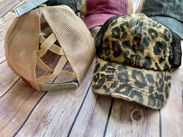 C.C. High Low Ponytail Hats