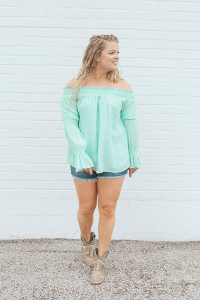 Hey Baby Mint Top