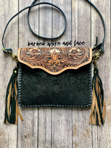 Damaris Tooled Cross Body