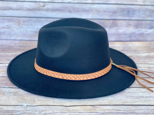 Highway Felt Hat- Black