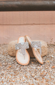 The Bling Naughty Monkey Sandals (SILVER)