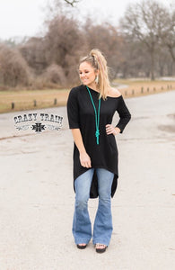 Rock N Soul Top (Black off the Shoulder)