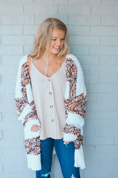 Honey Bee Fuzzy Cardigan