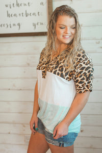 Leila Leopard Top