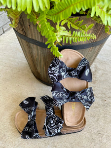 Loco Bandana Sandals- Black