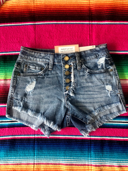 Wren Shorts (Medium Wash)