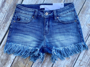 The Nashville Fray Shorts (Dark Wash)