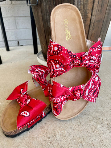 Loco Bandana Sandals- Red