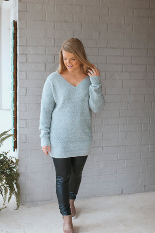 Deep Vneck Longsleeve Sweater