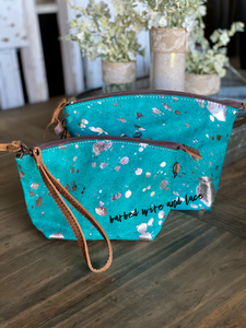 The Hempstead Bag (Turquoise Silver Acid )